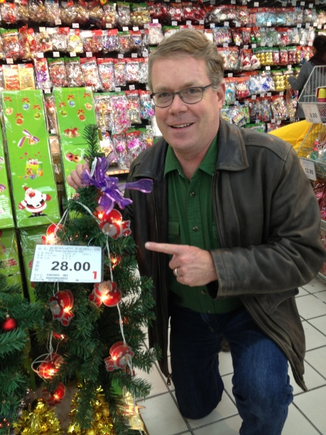 I feel a little like Charlie Brown, but this could be our only option for a Christmas tree in Shanghai.