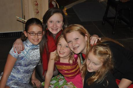 In Michigan, the girls got to spend time with cousins.....