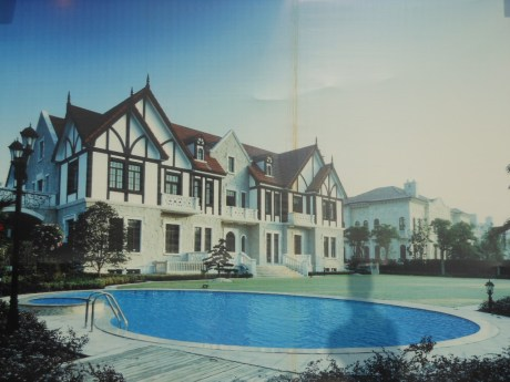 Picture of a house to come in a Chinese development that just got underway -- wish I could live there