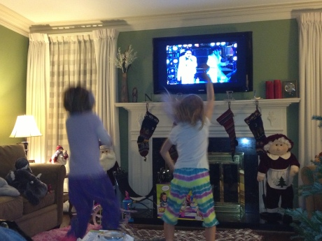 Stephanie and her BFF Ella rocking out Gangam-style on New Year's Eve.