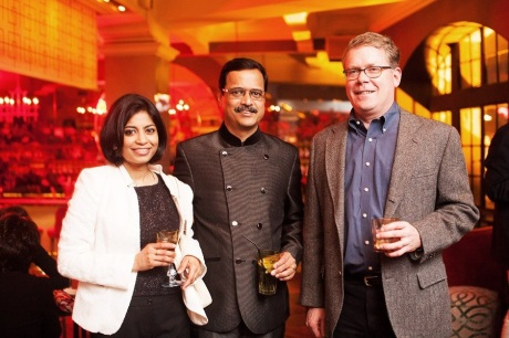 At the opening party for the 2013 Shanghai International Literary Festival with author and Chief Knowledge Officer for Ogilvy Asia Pacific Kunal Sinha and his wife.