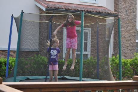 We will all miss Audrey and family, but we got their trampoline!