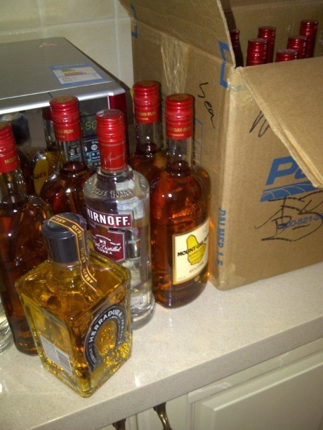 The stash of alcohol finally arrived on the slow boat to China.