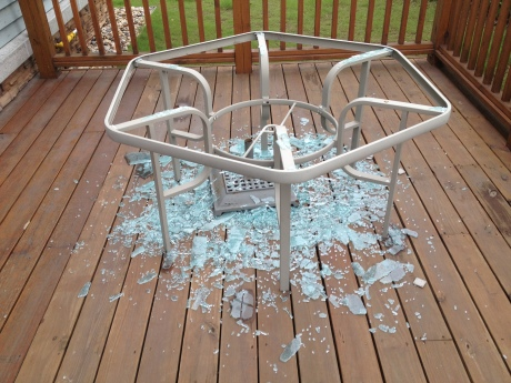 I guess it's time for a new deck table.