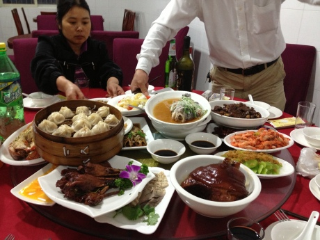 ....with a never-ending line of traditional Chinese dishes coming out from the kitchen.