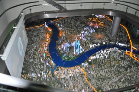 Scale model of Shanghai at the Urban Planning Museum.