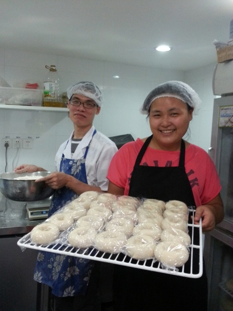 Bakers at work at Spread The Bagel.