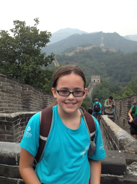 And finally, and completely unrelated to this post, Cassidy on her 7th grade field trip, on the Great Wall of China.