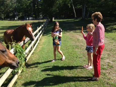 They also spent time with their Gammy and Grampa in PAB, and got to feed the horses.