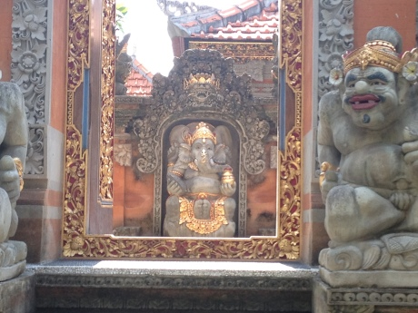 Entrance to a Balinese Hindu family temple.