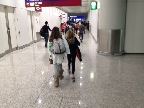 This has become a regular view I have of my daughters -- from behind, with backpacks, powering through one Asia Pacific airport or another on the way to a new destination.