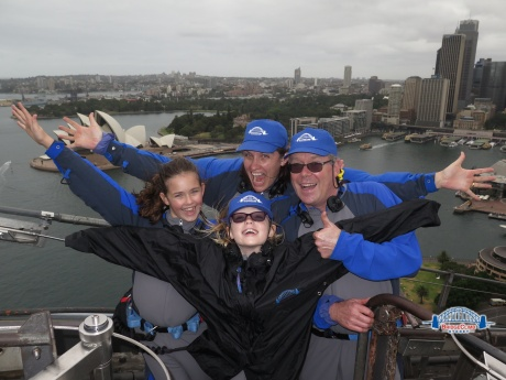 Oh yeah, we climbed the Sydney Harbor Bridge