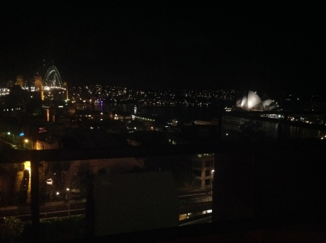 Sydney at night from our room...sigh