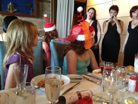 The ladies enjoying holiday music at our Christmas day brunch