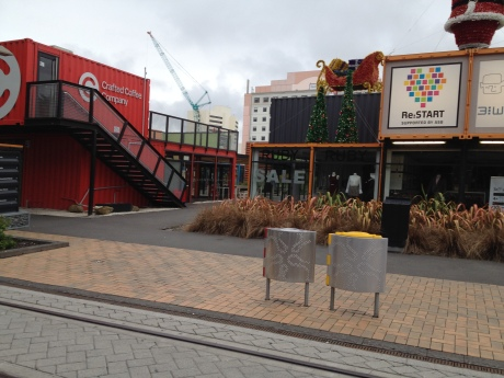 Christchurch mall made up of shipping containers