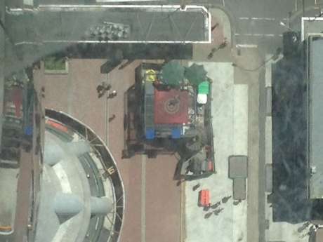 That is the landing zone for the nuts for the nuts who jump from the top of Auckland's Sky Tower