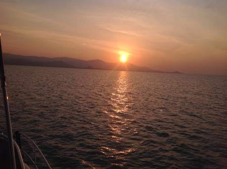 Sunset over Koh Samui, after a great trip
