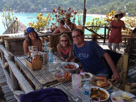 Lunch on an island paradise (Ko Pha Ngan, Thailand)