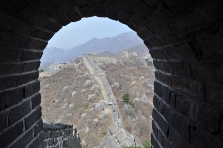 High up on the Great Wall