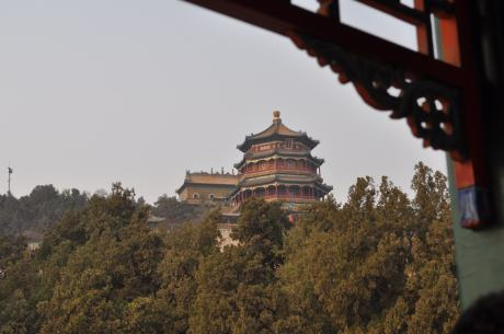The Buddhist Temple high above the Summer Palace