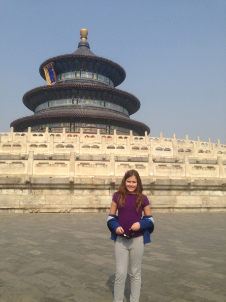 Cassidy in front of the Temple of Heaven