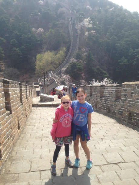 Cassidy and Stephanie on the Great Wall of China