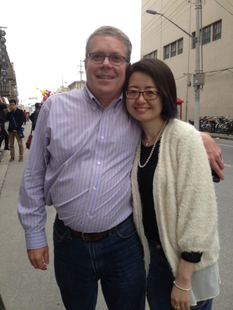 My good friend Anne Wang and I at the Shanghai Beer Festival -- in Puxi