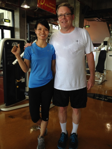 My monster of a physical trainer in Shanghai, Jessie...