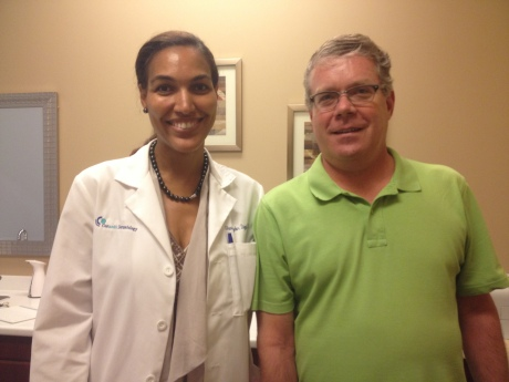 Our dermatologist in Grosse Pointe, Dr. Shauna Diggs, who is a walking ad for her business.