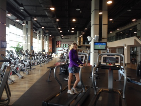 My friend Rachel at her gym, Kerry Sports Center.