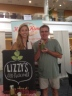 Me, with my friend Elizabeth, holding one of her amazing Green Elixir smoothies.