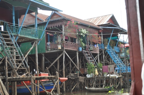 One of Cassidy's photos of the floating fishing village.