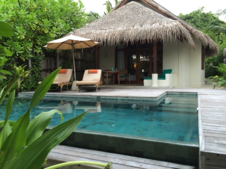 Our incredible place at Anantara Dhigu in the Maldives.