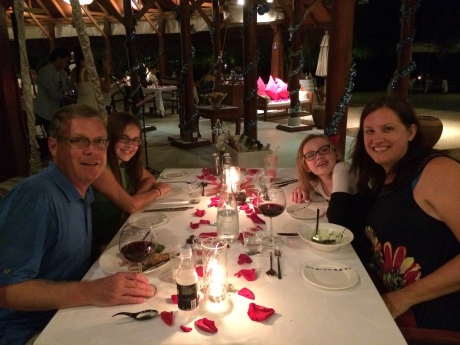 Christmas Eve dinner in the Maldives.