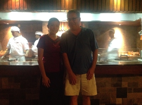 Me and new friend Cel at Fuddan Grill.