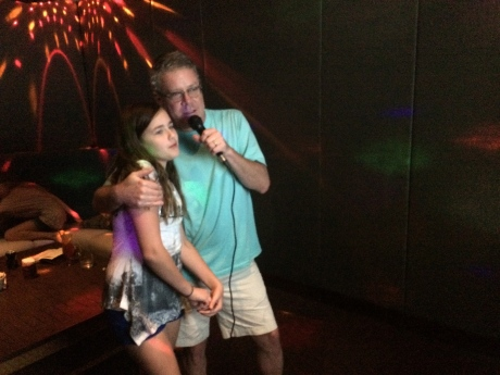 Oh yeah, that happened --Karaoke in the Philippines!