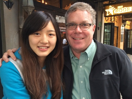 Jasmine and I having lunch on Yonkang Lu -- we talked the whole time!