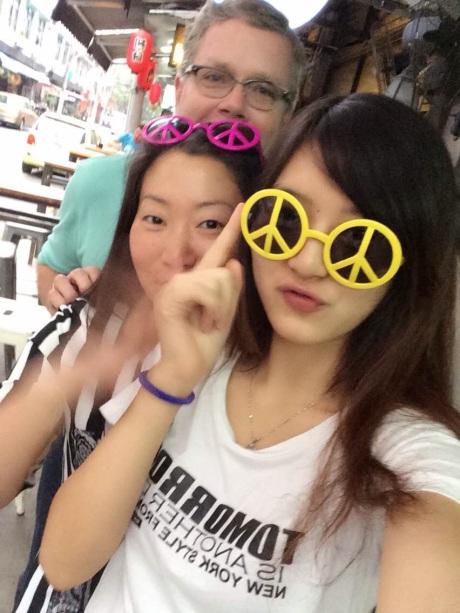 Jasmine, Aurora, and I on Yongkang Lu -- they both have Disney princess English names!
