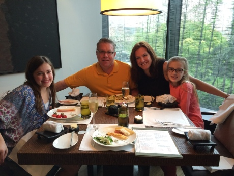 Easter brunch with the family at the Puli Hotel.