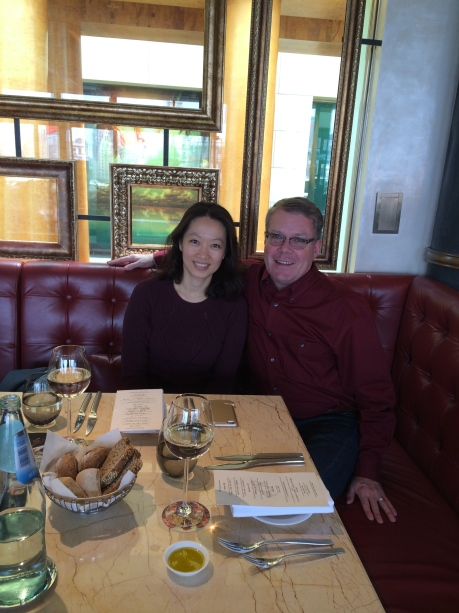 Maggie and I after a long lunch at POP, a new American Brassierie at 3 on the Bund.
