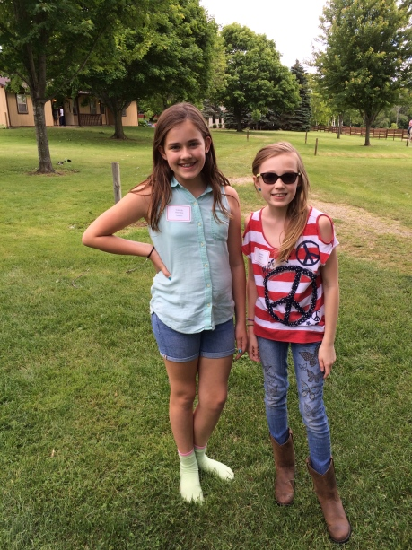 The girls at Black River horse camp for a week.