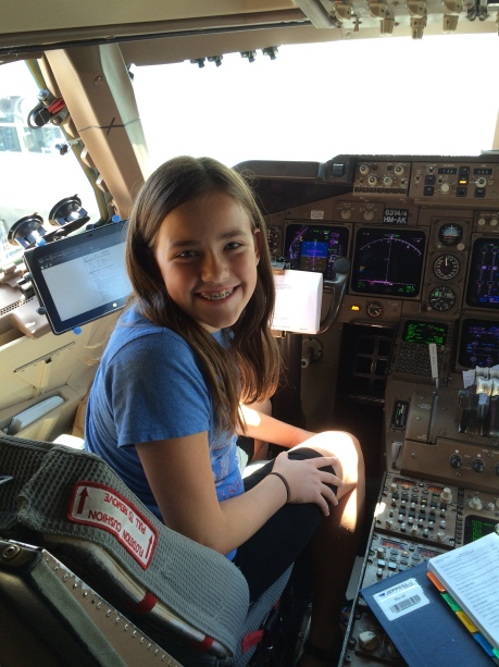 Cassidy once again finds herself in the cockpit of a 747 -- didn't think you could do that in the U.S.