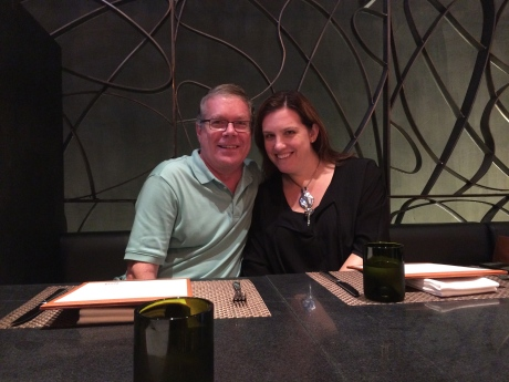Karen and I at Wolfgang Pucks new Shanghai restaurant in Xintiandi.
