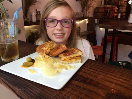 Speaking of food trends, grilled cheese is getting hot at Co. Cheese Melt Bar, where Steph enjoyed a macaroni and chefs grilled cheese sandwich (ahh carbs….).