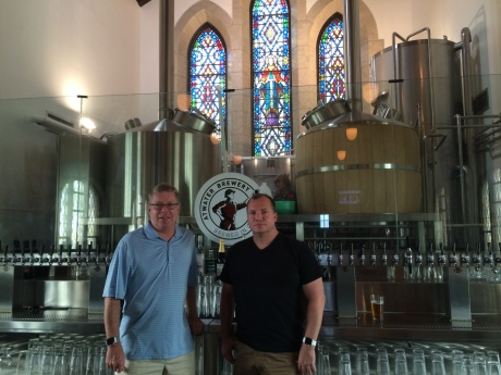 Atwater Block Brewery in Detroit is my favorite microbrewery on the planet, and that's my China and U.S. beer drinking buddy Scott Orwig with me. Now I just need to figure out how to get Atwater to China….