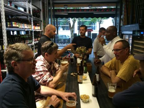 Me and guy tais having late morning beers at my buddy Bernard's bottle shop, Drink Up! Again, someone has to do this….