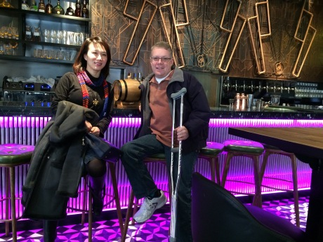 Christina and I at the newest post of the Shanghai Brewery.