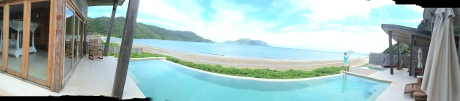 The view from our villa on Con Dao.