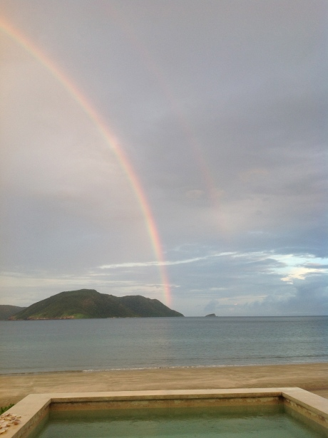 Double rainbow over Con Dao islands.