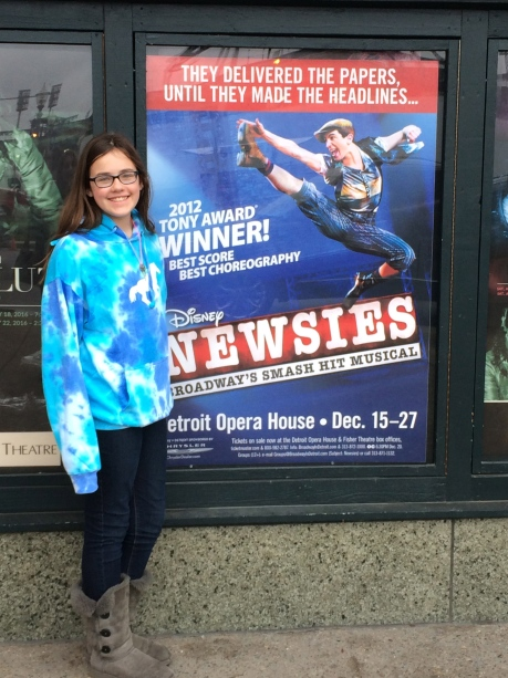 Our surprise trip home for Christmas happened to coincide with the performance of Cassidy's favorite musical.